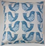 "Cushion Cover in Clarke and Clarke iLiv Scandi Bird Blue 14"" 16"" 18"" 20"""